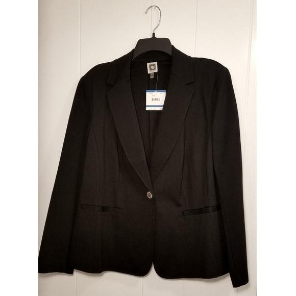 Anne Klein Jackets & Blazers - Anne Klein Black Blazer Suit Jacket 1X NWT Hot!